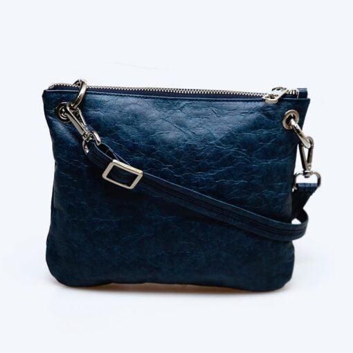 bolso bandolera azul ecologico