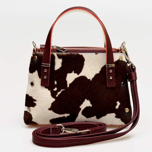 bolso piel pelo de vaca